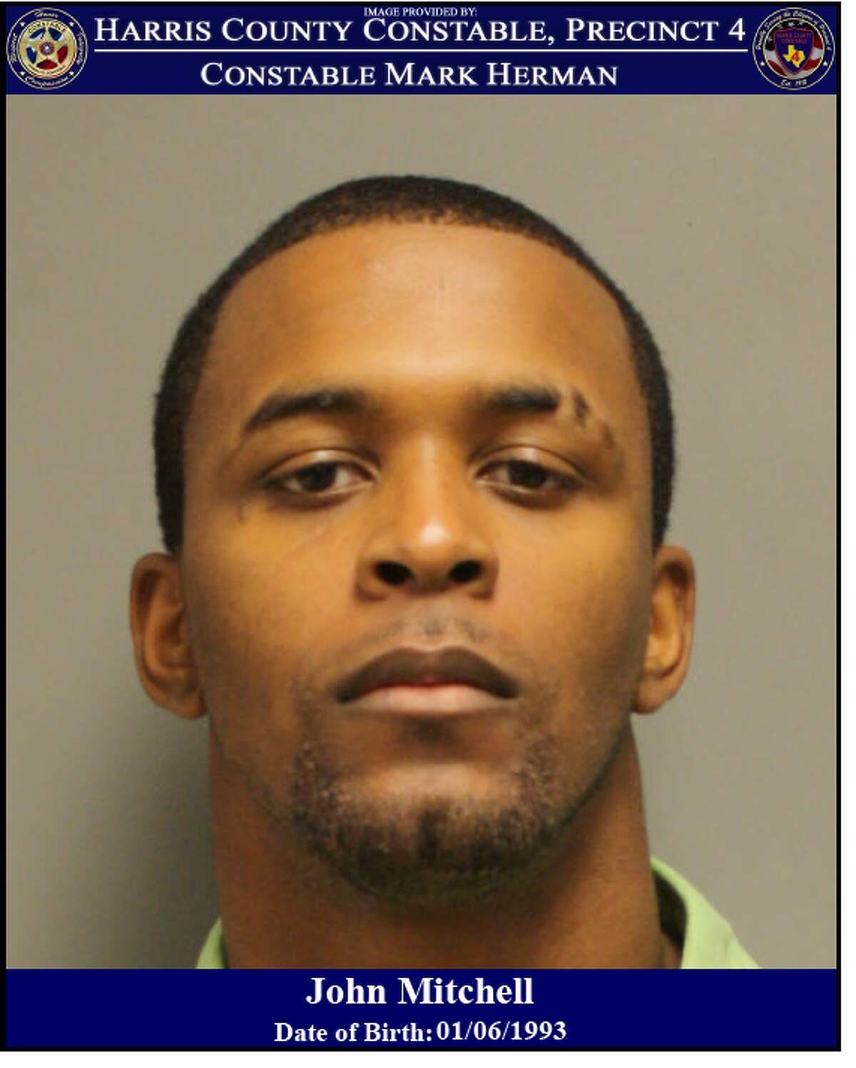 John Mitchell, 26, is wanted for felony theft after he allegedly stole $800 worth of tools from a northwest Houston Home Depot.