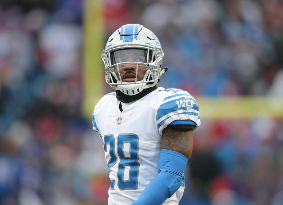 BUFFALO, NY - DECEMBER 16: Quandre Diggs #28 of the Detroit Lions looks on during NFL game action against the Buffalo Bills at New Era Field on December 16, 2018 in Buffalo, New York. (Photo by Tom Szczerbowski/Getty Images) Photo: Tom Szczerbowski/Getty Images