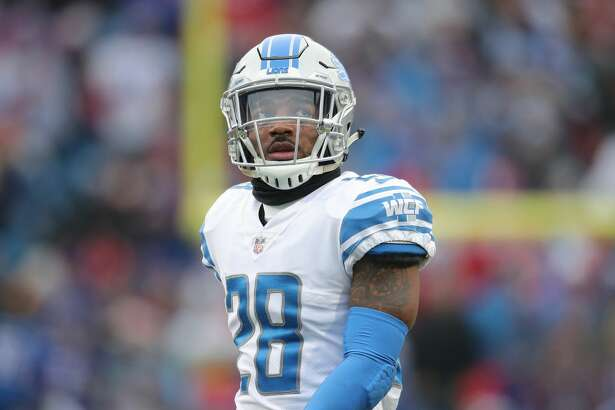 BUFFALO, NY - DECEMBER 16: Quandre Diggs #28 of the Detroit Lions looks on during NFL game action against the Buffalo Bills at New Era Field on December 16, 2018 in Buffalo, New York. (Photo by Tom Szczerbowski/Getty Images)