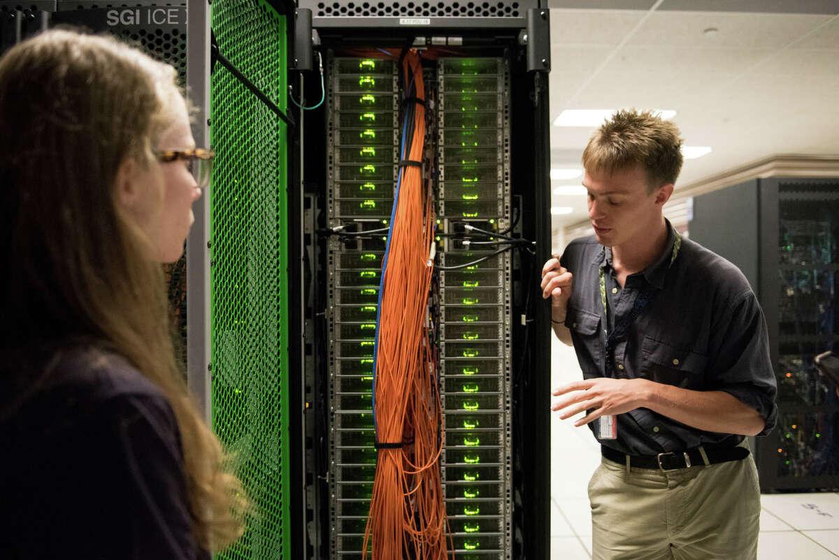 An inside look at NASA's Pleiades supercomputer..