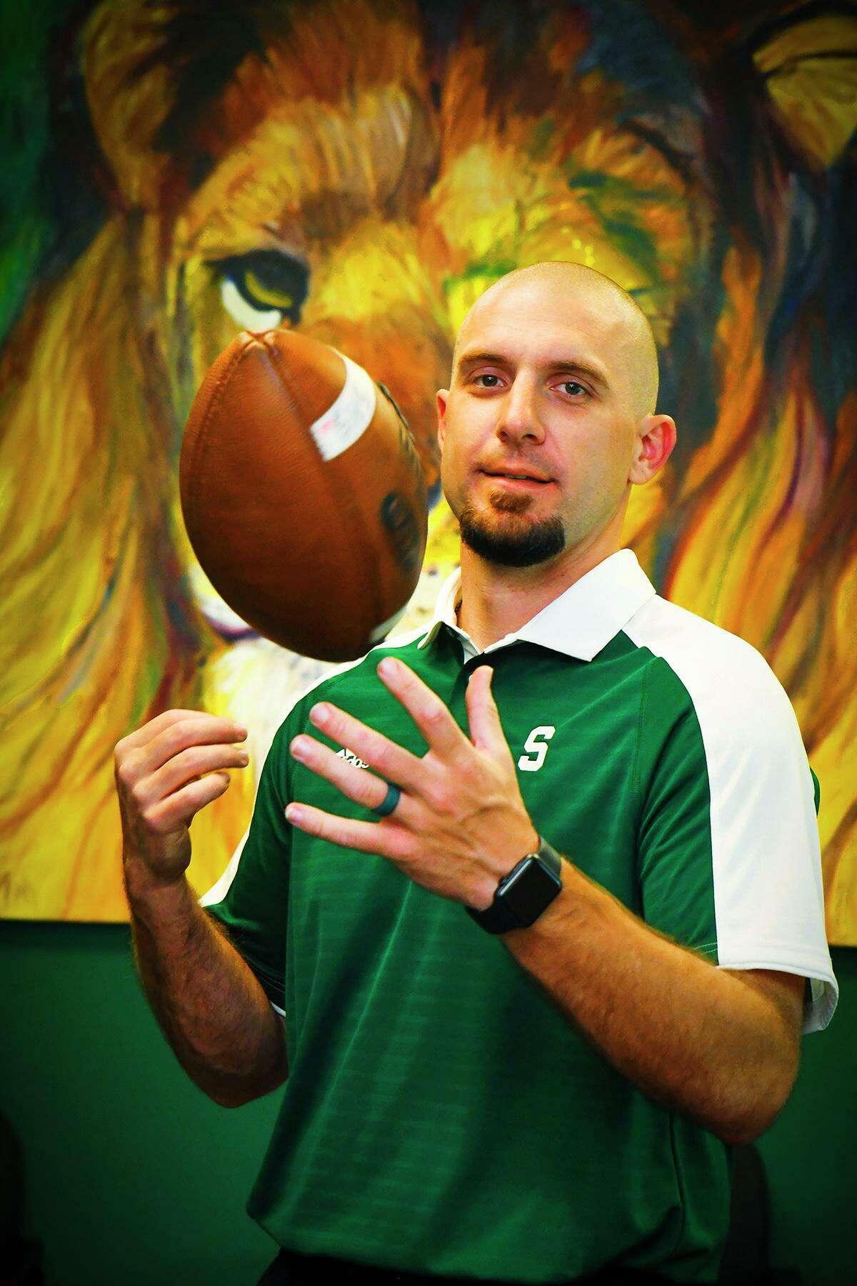 Spring head football coach Trent Miller.