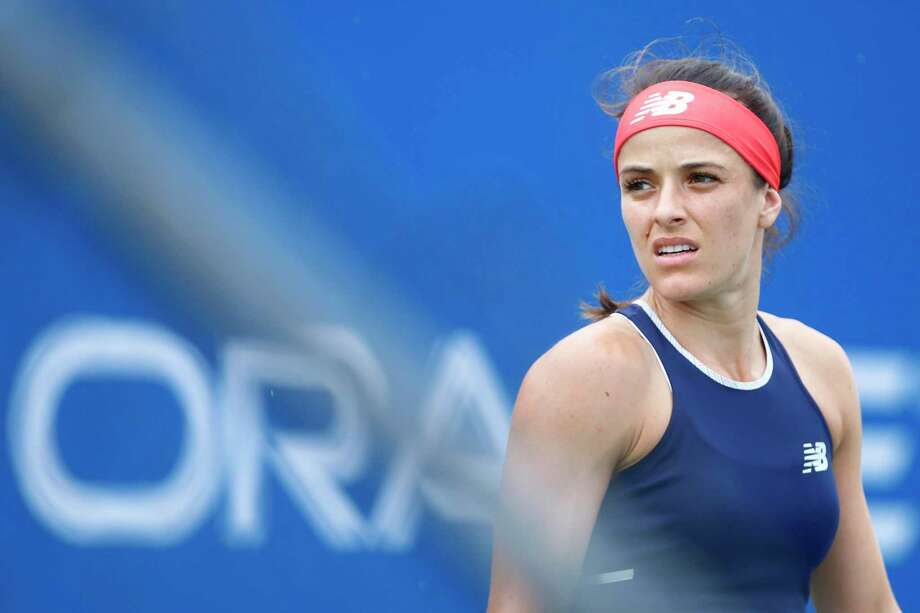 Nicole Gibbs advanced with a victory at the Oracle Challenger Series in New Haven Wednesday. Photo: Oracel Challenger Series / Contributed Photo / (Photo by Jared Wickerham/Oracle Challenger Series)
