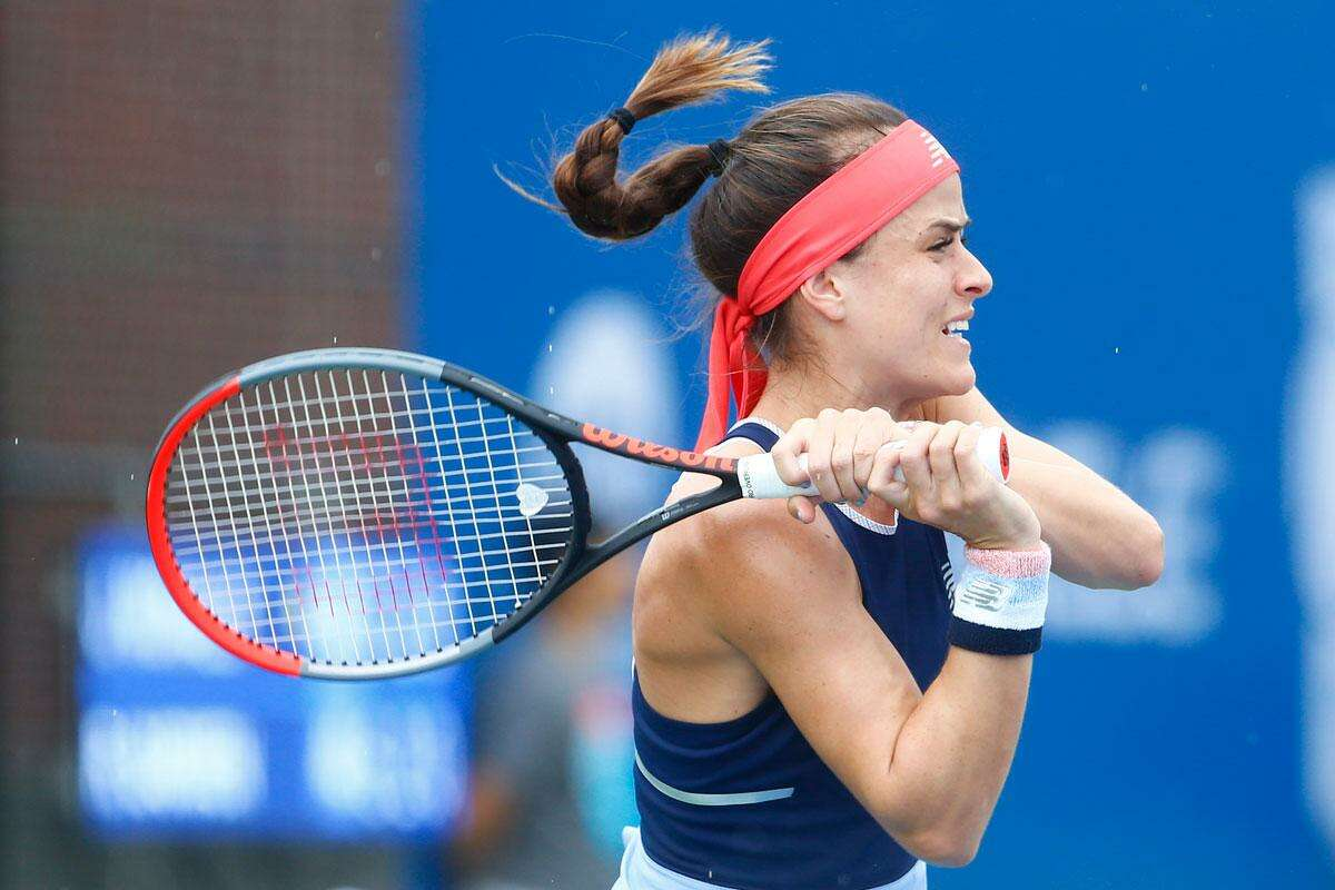 Nicole Gibbs advanced with a victory at the Oracle Challenger Series in New Haven Wednesday.