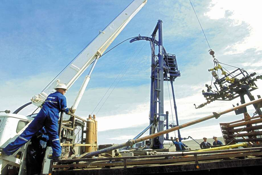 This is an undated company photo of Schlumberger Ltd. operations. Photo: Via Bloomberg News