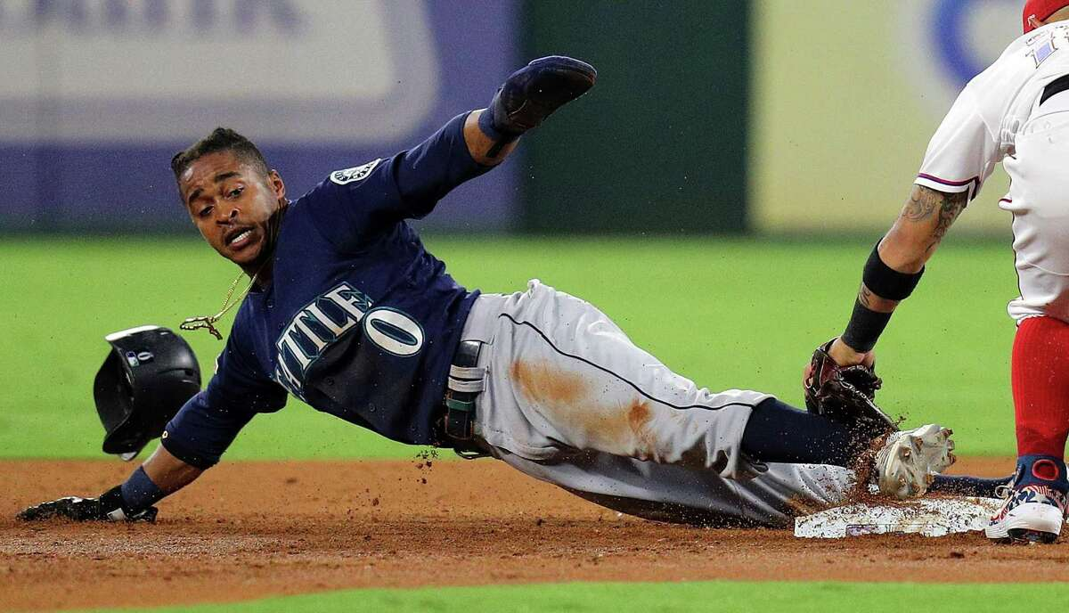 Mariners outfielder Mallex Smith leads the majors with 39 stolen bases in 47 attempts.