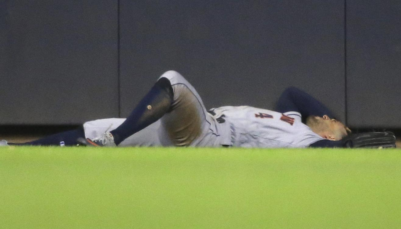 Astros' George Springer to miss 'a few games' after being diagnosed with mild concussion