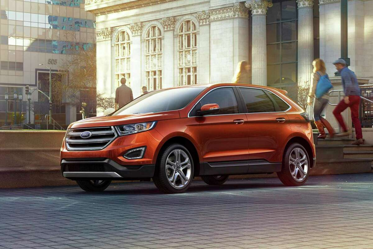 This undated photo provided by Ford shows the 2016 Edge, a midsize crossover SUV. (Ford Motor Co. via AP)
