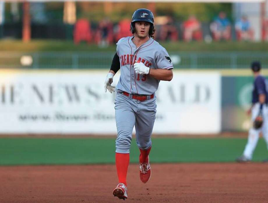 Great Lakes Loons' James Outman, who hit 19 home runs in the regular season, added another in Wednesday's playoff-opening win. (Photo provided)