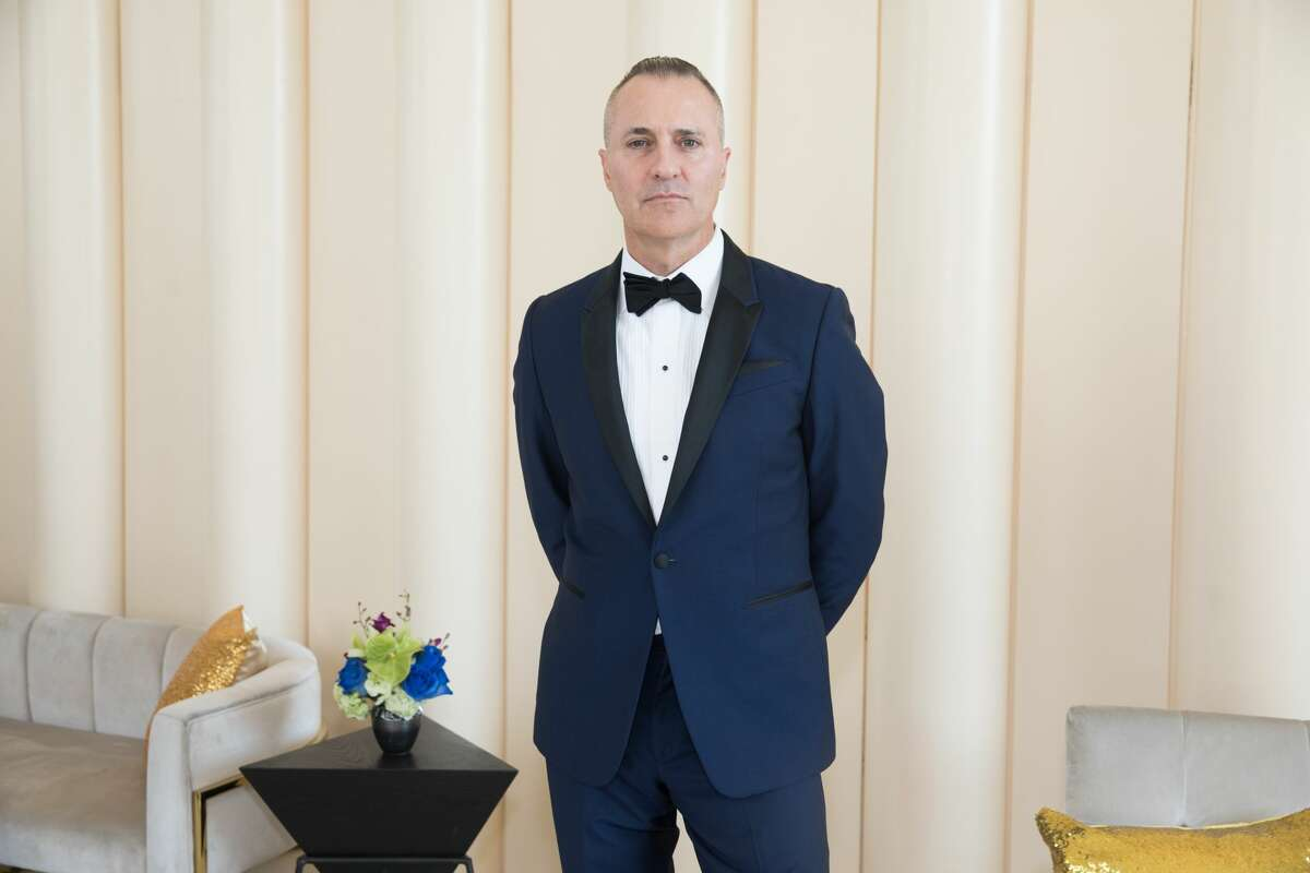 Todd Coyles wears a Paul Smith suit for the San Francisco Symphony opening night gala on Sept. 4, 2019.