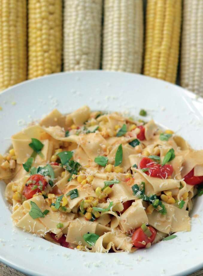 Pappardelle with corn. (Hillary Levin/St. Louis Post-Dispatch/TNS) Photo: Hillary Levin / St. Louis Post-Dispatch