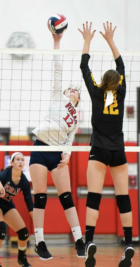 Foran High's Briana Brassell will return to play the middle hitter position for the Lions, who open their season at Stamford High on Sept. 13. Photo: David G. Whitham / For Hearst Connecticut Media / 2018,dgwphotography