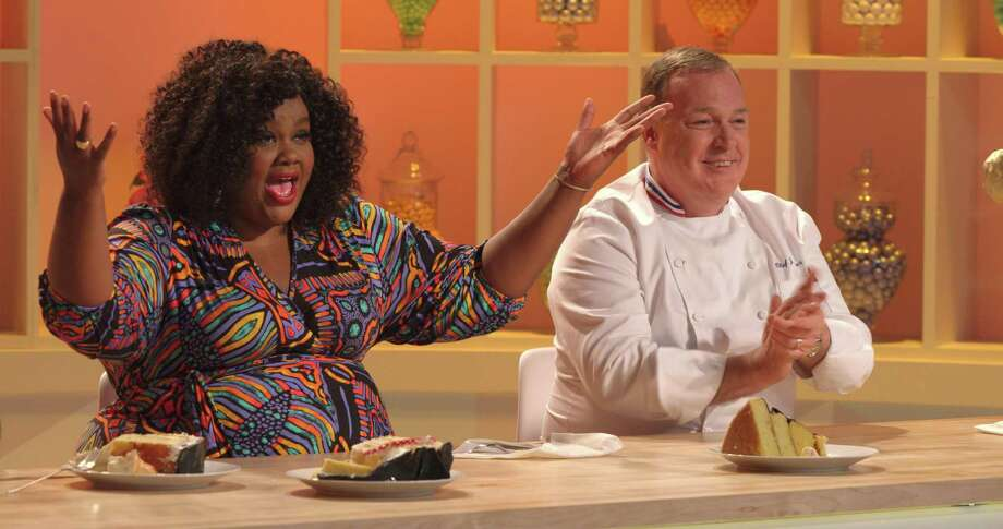 "Now in its second season, the new Netflix series ""Nailed It!"" features host Nicole Byer (left) and master pastry chef Jacques Torres judge the cakes of home bakers trying to copy the artsy cakes of the pros. Photo: Courtesy Netflix"