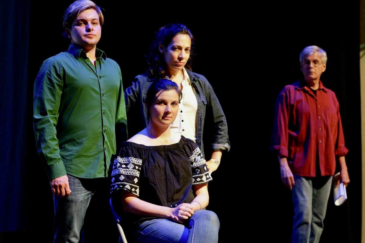Glenn Ghirardi of South Norwalk as Hal; Amanda Piechota of Milford as Catherine; Taryn Chorney of New Haven as Claire and Peter Haynes of Wilton as Robert.