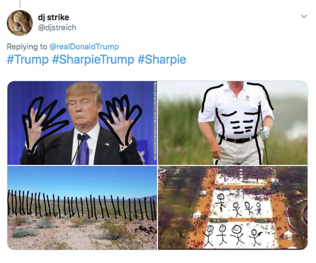 President Trump's decision to use a sharpie to alter Hurricane Dorian's path was panned by memes.