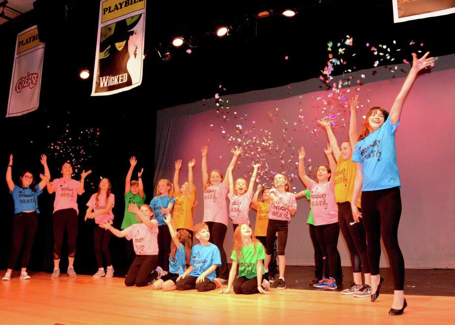 Students in last year's Broadway Beat! production at the Darien Arts Center. Photo: Darien Arts Center