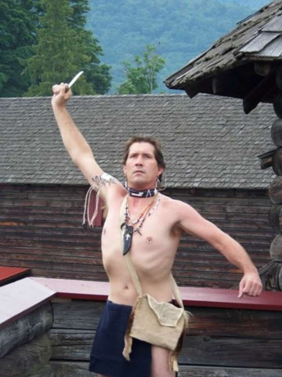 Robert Forgett as Magua. (Diane Peter-O'Connor)