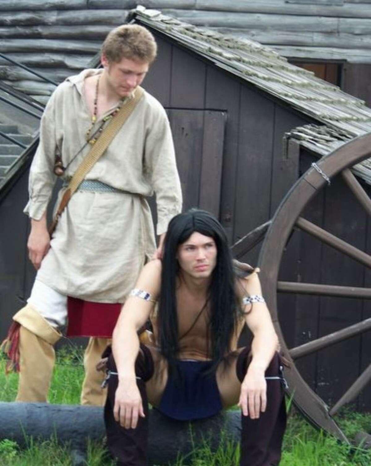 Conrad Browne Lorcher as Hawkeye and Joshua Dumond as Uncas. (Diane Peter-O'Connor)