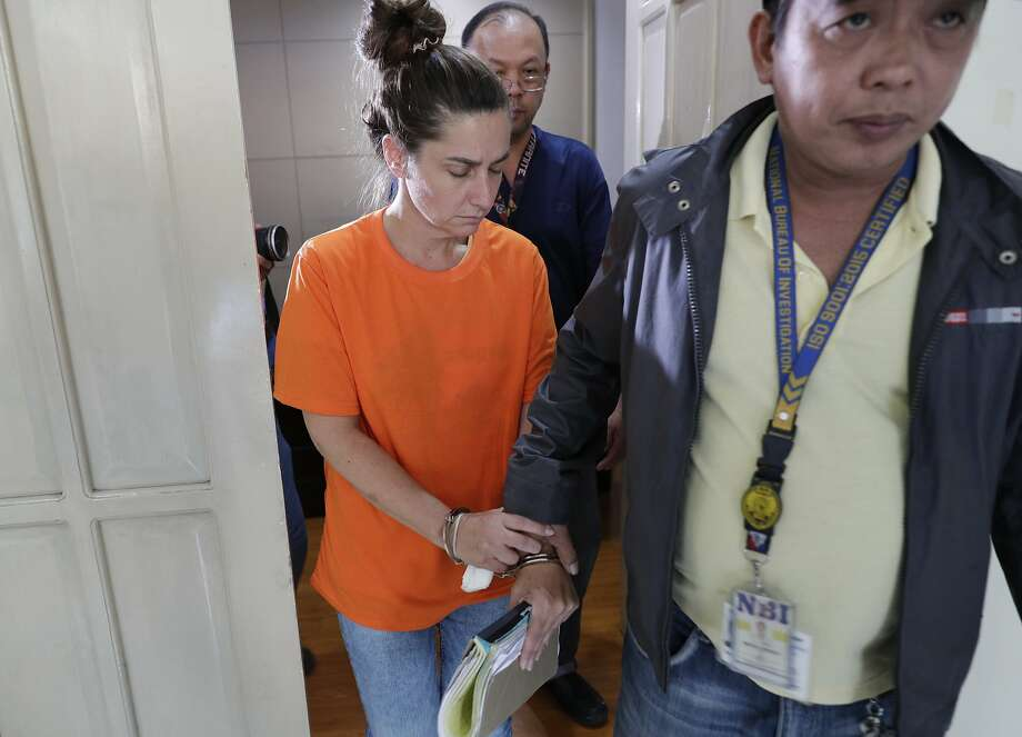 American Jennifer Erin Talbot was detained for trying to bring a 6-day-old Filipino baby out of the country without proper travel documents. Photo: Aaron Favila / Associated Press