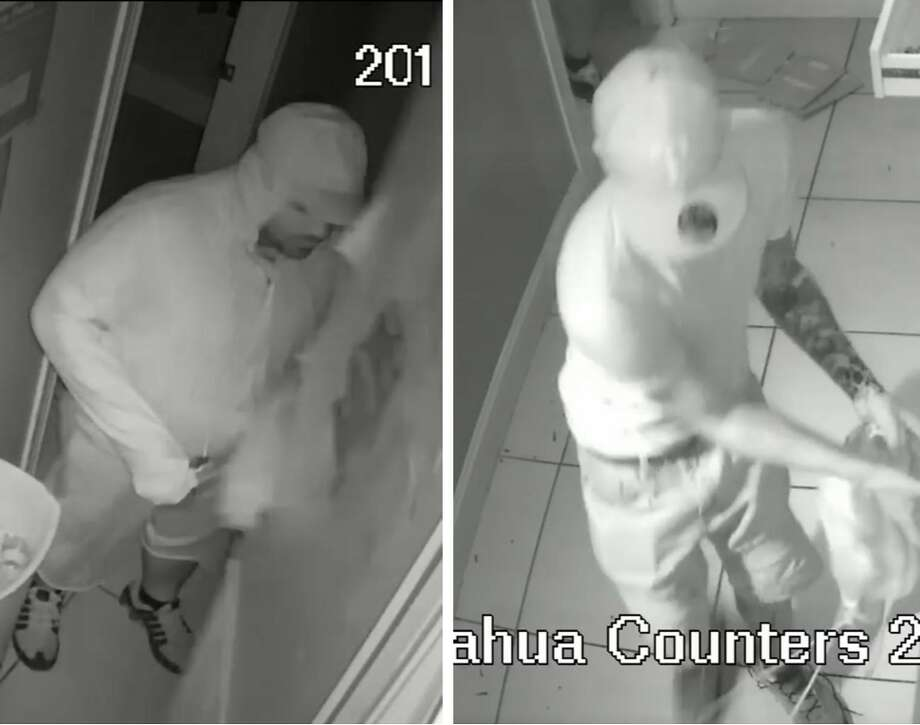 Laredo police said these two men are wanted for questioning in connection with a burglary that occurred in the 700 block of Chihuahua Street. Photo: Courtesy