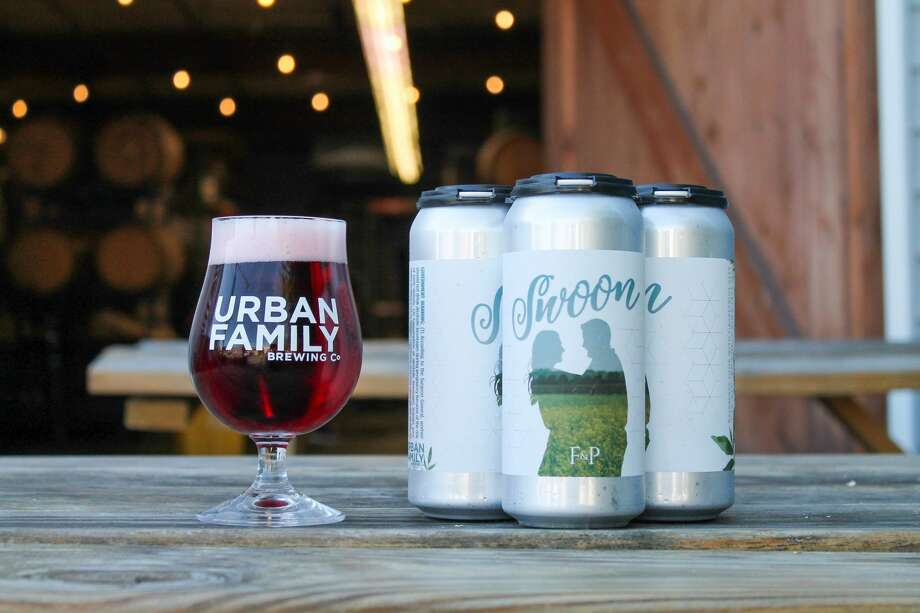 """Urban Family Brewing Co: Because a wedding beer is picture perfect for a beer lover's holiday. They're releasing their cans by the name of """"Swoon,"""" so it's safe to say we're following suit. Photo: Fanny Wright"""