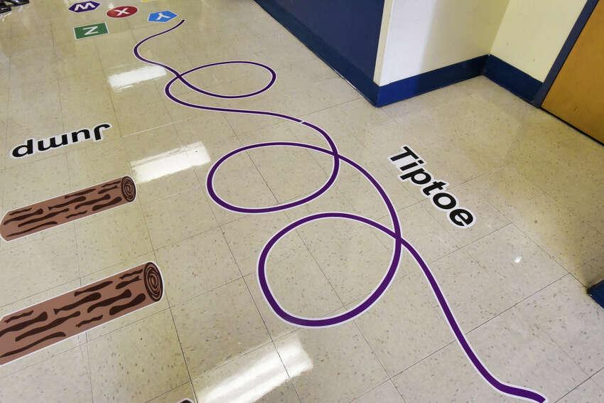 A view of the sensory path hallway inside Sheridan Preparatory Academy: A Community School, on Thursday, Sept. 5, 2019, in Albany, N.Y. (Paul Buckowski/Times Union)