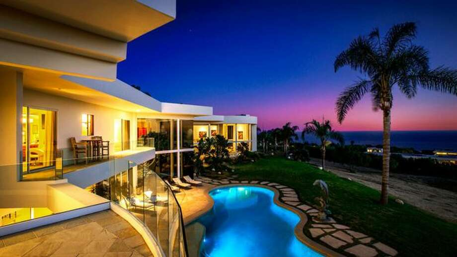 The six-bedroom, 5.5-bath mansion with coastline views of the Pacific Ocean is up for sale in Malibu. Photo: Compass