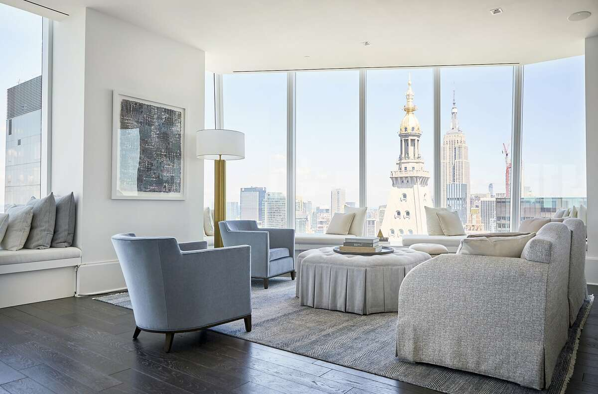 Inside the Madison Square Park Tower in Manhattan on Aug. 29, 2019. As sales of multimillion-dollar condos and apartments cool, developers are adding more luxuries to lure buyers. (John Muggenborg/The New York Times)
