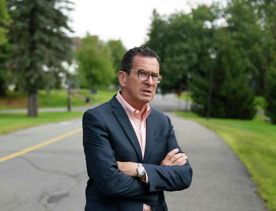 University of Maine Chancellor Dannel P. Malloy, the former governor of Connecticut, walks the University of Maine main campus on Monday, Aug. 26, 2019. Photo: Tyler Sizemore / Hearst Connecticut Media / Greenwich Time