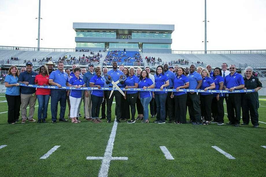 Sheldon ISD held a groundbreaking for its new stadium in August. Photo: Courtesy Sheldon ISD