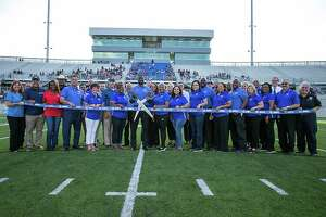 Sheldon ISD held a groundbreaking for its new stadium in August.