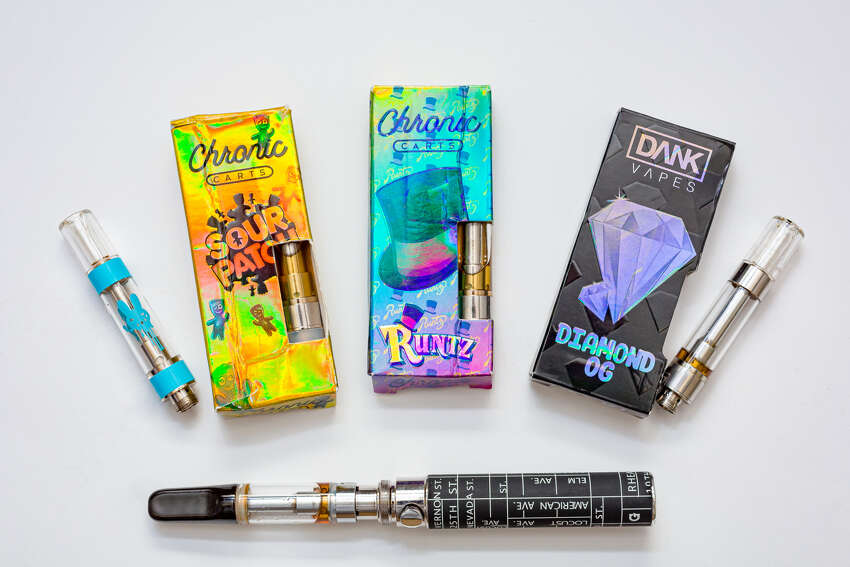 The New York State Department of Health released photos of the products that tested positive for high levels of vitamin E acetate, an ingredient now suspected to be behind a spate of mysterious respiratory illnesses associated with cannabis-containing vape products.