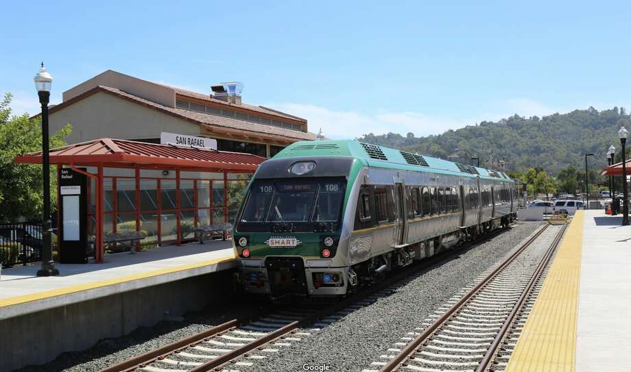 San Rafael residents are struggling for their sleep amid horn testing by Sonoma-Marin Area Rail Transit. It's a requirement for the transit agency's planned expansion to Larkspur. Photo: Elizabeth Dippel Via Google Maps