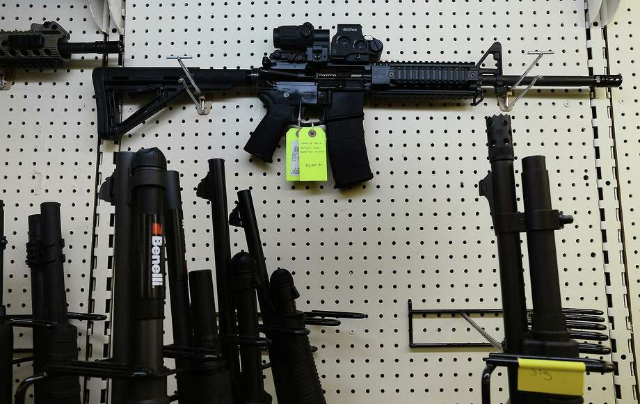On display at a gun shop in Wendell, N.C., an AR-15 assault rifle manufactured by Core15 Rifle Systems in Dec. 18, 2012.