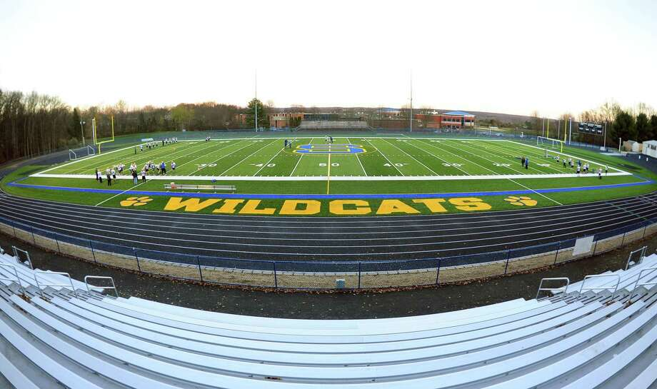 Seymour High School's new artificial turf football field in Seymour, Conn. on Tuesday Nov. 17, 2015. Photo: Christian Abraham / Hearst Connecticut Media / Connecticut Post