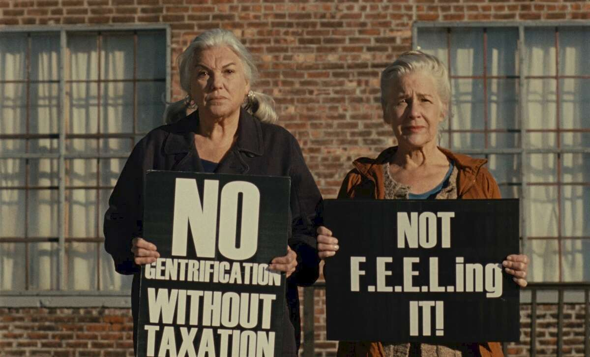 """Tyne Daly, left, and Elisabeth Henry in """"A Bread Factory"""" (image from abreadfactory.com)"""