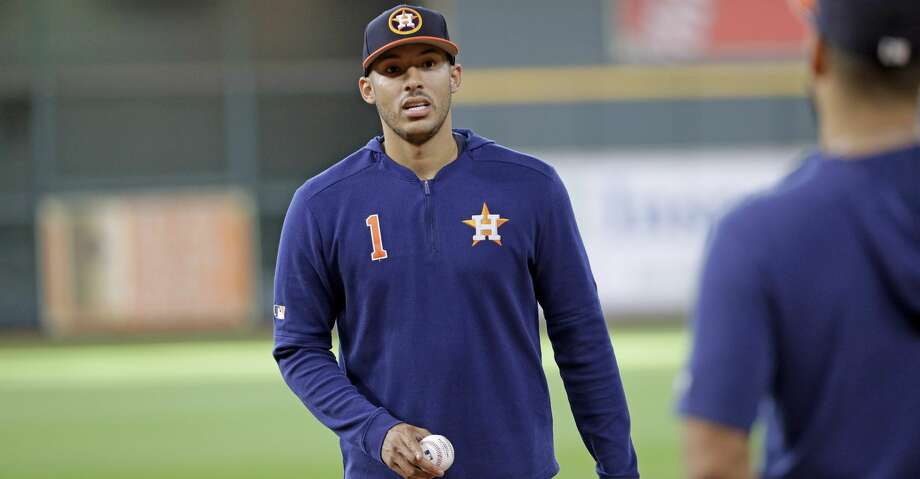 PHOTOS: Astros game-by-game Houston Astros' Carlos Correa, left, talks with catcher Robinson Chirinos before a baseball game against the Seattle Mariners Thursday, Sept. 5, 2019, in Houston. (AP Photo/David J. Phillip) Browse through the photos to see how the Astros have fared in each game this season. Photo: David J. Phillip/Associated Press