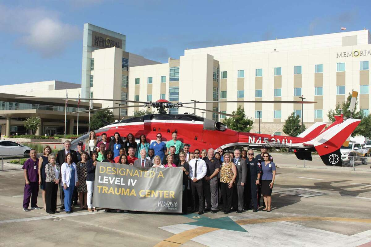 Memorial Hermann Pearland Hospital has been designated a Level 4 trauma center by the Texas Department of State Health Services.