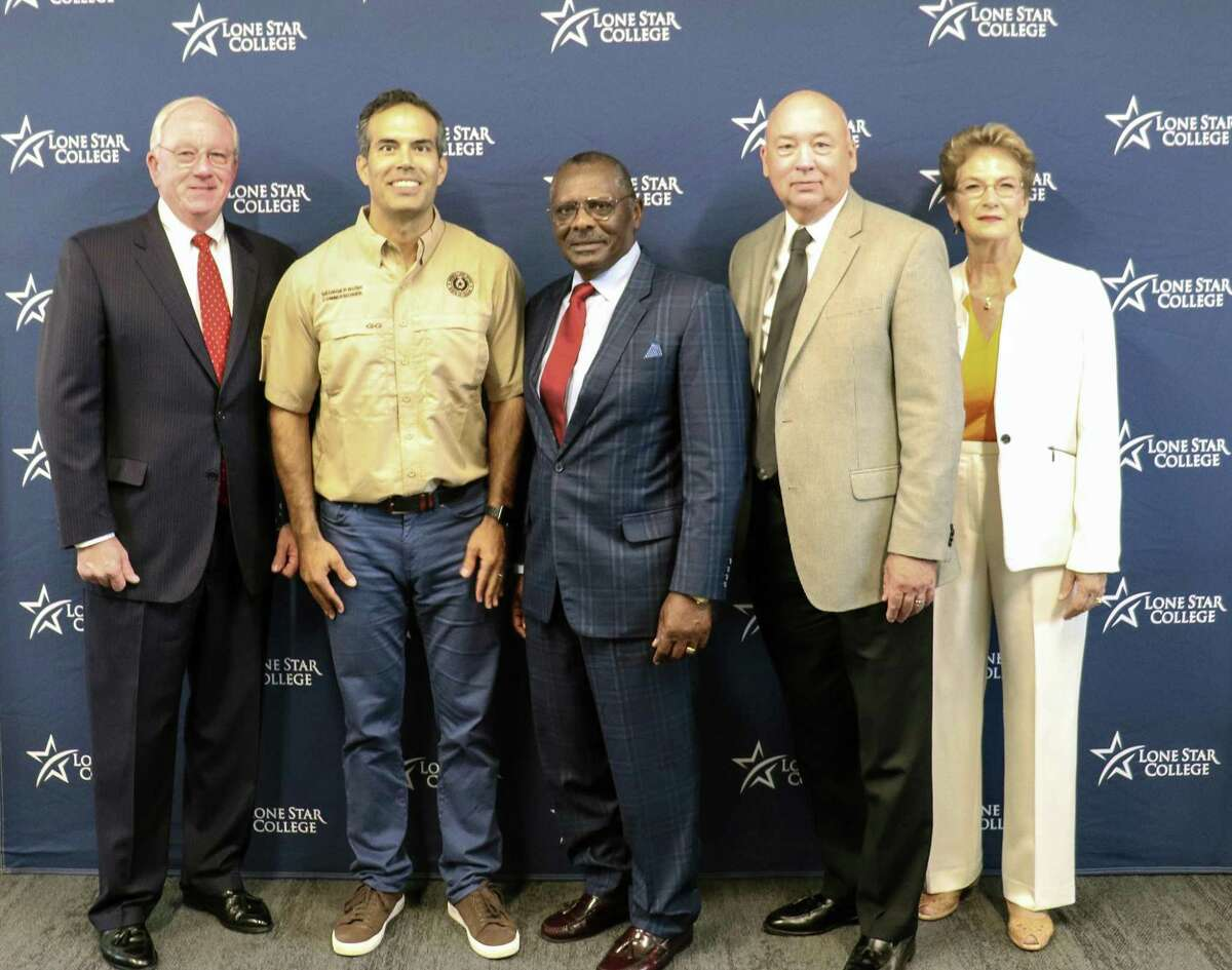 Land Commissioner George P. Bush visited the Lone Star College Process Technology Center in Generation Park near Atascocita. The facility is a part of the Lone Star College Kingwood system.