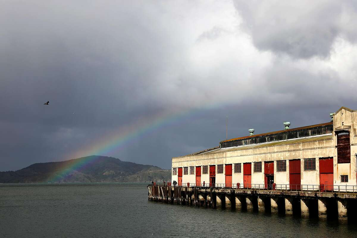 A rainbow appears outside of Fort Mason in San Francisco, Calif., on Saturday, February 2, 2019. Rain is expected in the Bay Area through Tuesday.