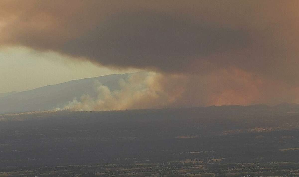 A vegetation fire in Tehama County had burned 1,000 acres and was 0% contained, officials said.