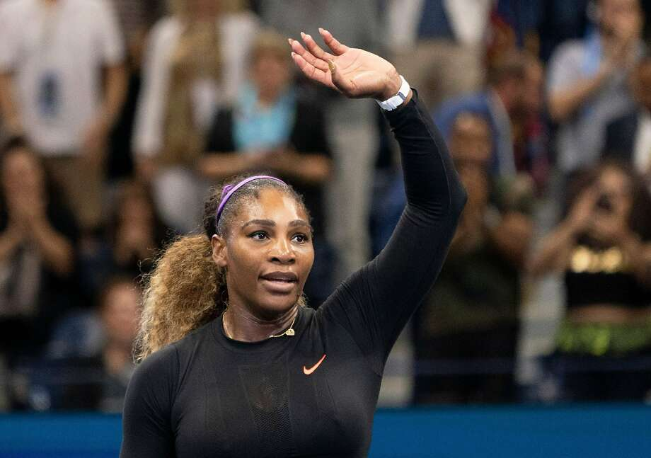 Serena Williams of the US celebrates her win over Elina Svitolina of the Ukraine during their Singles Women's Semi-finals match at the 2019 US Open at the USTA Billie Jean King National Tennis Center in New York on September 5, 2019. (Photo by AFP)/AFP/Getty Images Photo: AFP / Getty Images