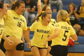 North Huron varsity volleyball defeated Peck in four sets on Thursday, Sept. 5.