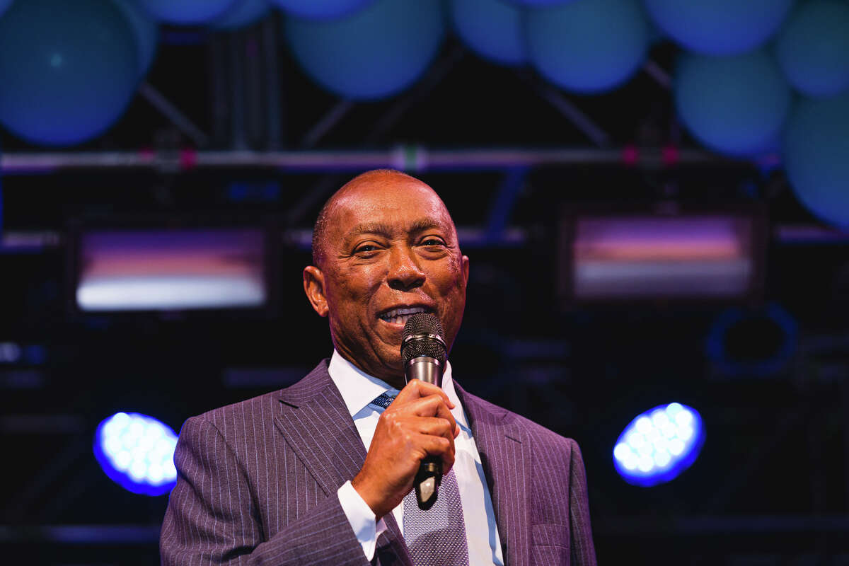 Mayor Sylvester Turner speaks at the MassChallenge Houston Finale event held at House of Blues in downtown Houston on Sept. 5, 2019.