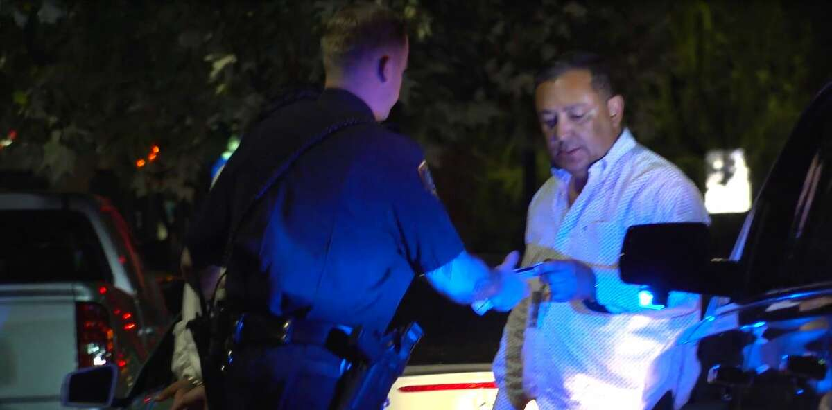 Houston Police Chief Art Acevedo arrested a man Thursday night who he said was driving more than 110 mph in downtown.
