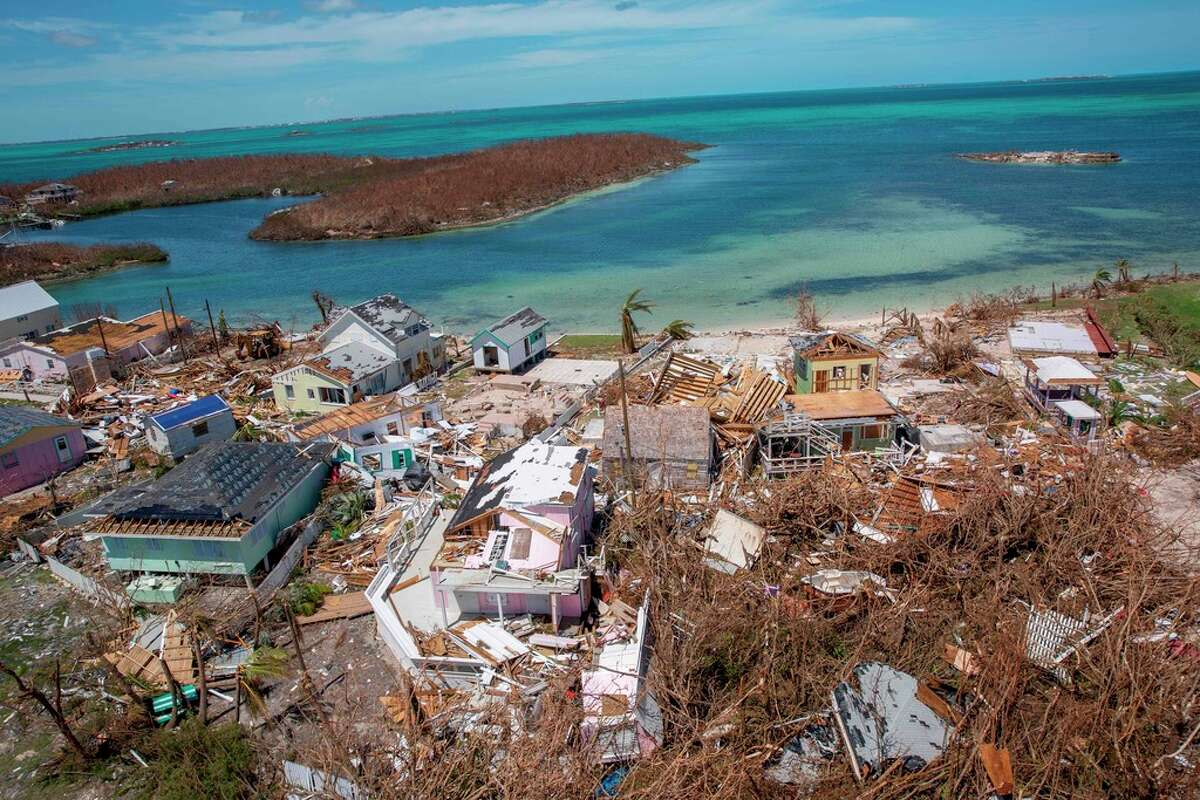 In this image released by US Customs and Border Protection, Air and Marine Operations agents conduct search and rescue operations in Abaco Island and Marsh Harbour, Bahamas, on September 5, 2019. - The final death toll from Hurricane Dorian in the Bahamas could be