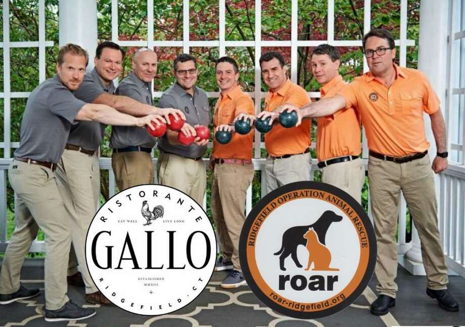 The Ridgefield 8 are ready to roll with serving up cocktails and fun at Gallo Ridgefield to benefit ROAR on Sept. 26. Photo: Contributed Photo