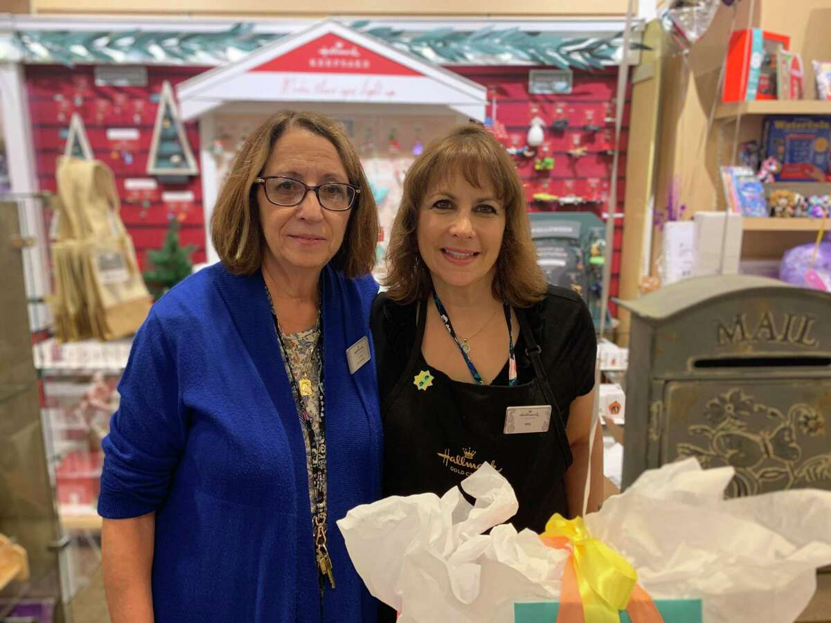 Store manager Linda at the Hallmark Store in the Trumbull Mall put smiles on senior's faces. From July 19-Aug 19,shoppers could participate in the Smiles for Seniors event at the local store. Shoppers could purchase and write out greeting cards for seniors, sending them a kind message to put a smile on their face. Each senior that participated received an average of six cards, including free admission to Sea Quest, who also supported the cause. The cards were handed out at the Trumbull Senior Center and throughout town.