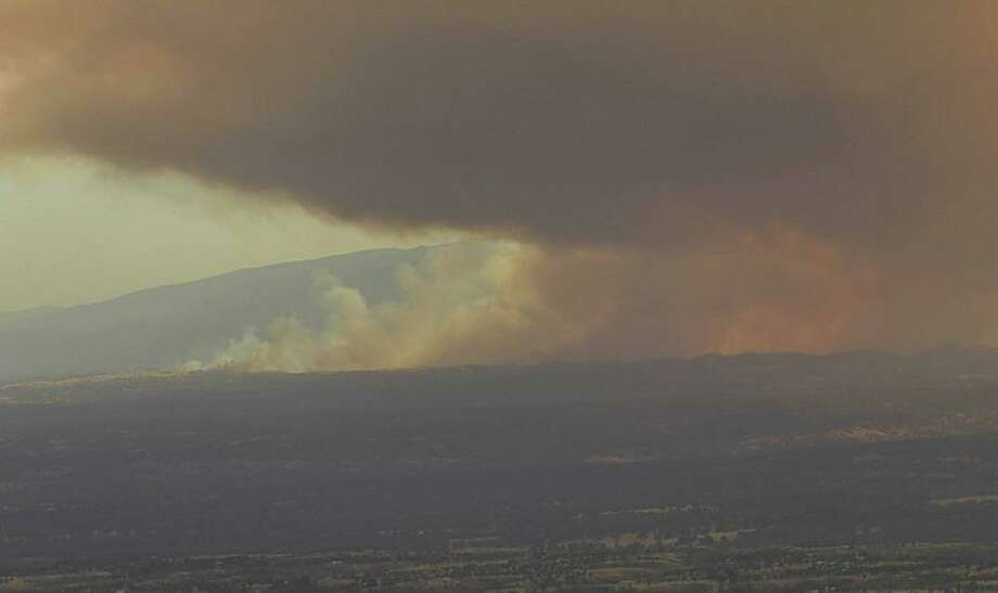 A vegetation fire in Tehama County has burned 6,500 acres and was 5% contained as of Friday morning, officials said. Photo: Nevada Seismological Laboratory