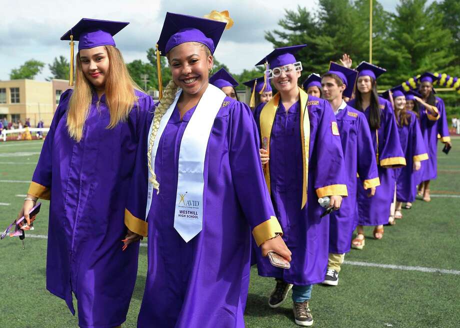 Westhill High School Class of 2019 commencement exercises on June 17, 2019 in Stamford, Connecticut. Photo: Matthew Brown / Hearst Connecticut Media / Stamford Advocate