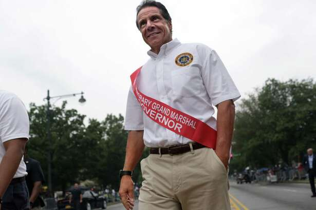 NEW YORK, NY - SEPTEMBER 02: New York Gov. Andrew Cuomo walks in the annual West Indian Day Parade on September 2, 2019 in the Brooklyn borough of New York City. Mayor Bill de Blasio also walked in the parade.